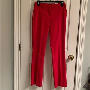 NWT-Express Columnist Red Barely Boot Dress Pants